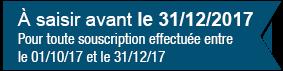 Fortissimo - A saisir avant le 31/12/2017 - Pour toute souscription effectuée entre le 01/10/17 et le 31/12/17