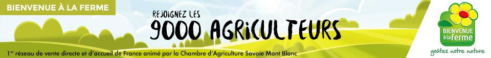 Bienvenue à la ferme - rejoignez les 9 000 agriculteurs 1er réseau de vente directe et d'accueil de France animé par la Chambre d'Agriculture Savoie Mont Blanc.