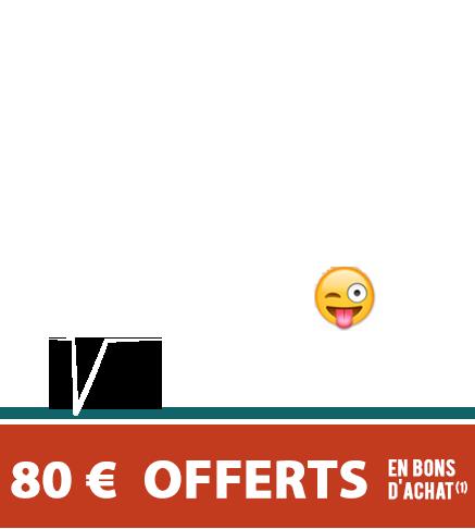 Peu importe votre mention au BAC ! 80 € offerts en bons d'achat(1) à tous les bacheliers 2019 !